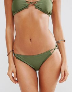 Skinny Twist Side Bikini Pant - Green