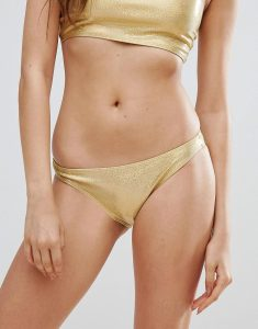 Gold Hologram Bikini Bottoms - Gold