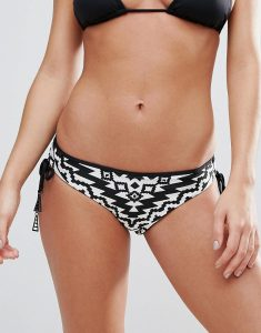 Kasbah Tie Side Hipster Bikini Bottoms - Black