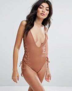 Roped Up Swimsuit - Pink