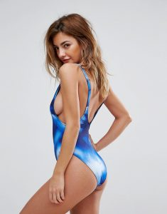 Tye Dye Plunge Swimsuit - Multi