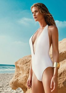 Gottex Au Naturel Deep Plunge Swimsuit