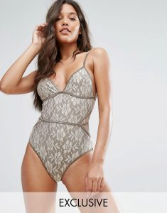 And Co Gold Lace Swimsuit - Gold