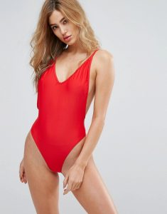 Low Back Swimsuit - Red