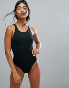 Solids Black Swimsuit - Black
