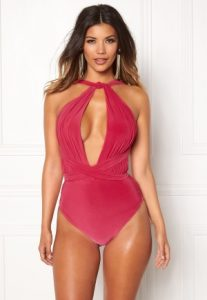 Multi Tie Swimsuit Pink M