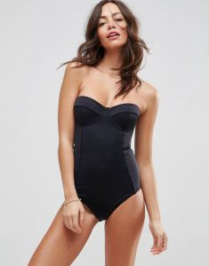 'Sculpt Me' Control Cupped Supportive Swimsuit - Black