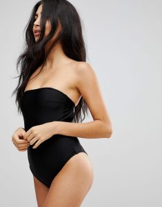 High Leg Swimsuit with Removable Multiway Straps - Black
