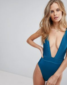 Ribbed Swimsuit - Green