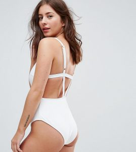 Strappy Back Swimsuit DD - G Cup - White