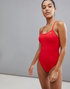 Swim Cut-Out One Piece - Red