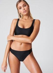 NA-KD Swimwear Sporty Bikini Briefs - Black