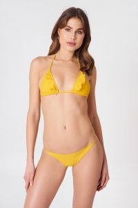 NA-KD Swimwear Thin Strap Bikini Briefs - Yellow