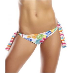 Pink Summer Tanga Tie-Side White