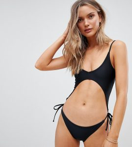 Extreme Cut Out Black Swimsuit - Black