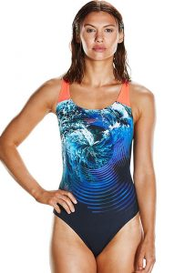 Speedo Storm Flow Digital Powerback Swimsuit
