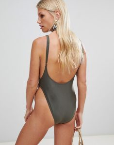 Scoop Back Swimsuit - Green