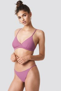 NA-KD Swimwear Thin Strap Bikini Briefs - Purple