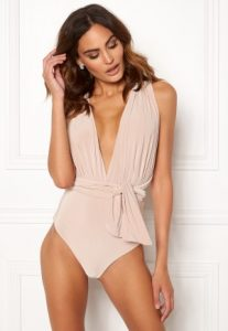 Multi Tie Swimsuit Latte L