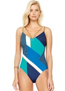 Gottex Maritime V Neck Swimsuit