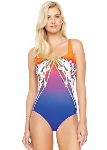 Gottex Ombre Iris Square Neck Tank Swimsuit