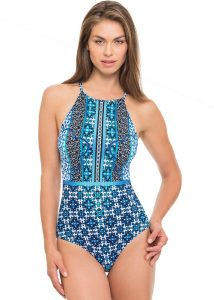Gottex Profile Collage High Neck Swimsuit