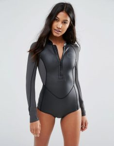 Salty Days Long Sleeve Swimsuit - Black
