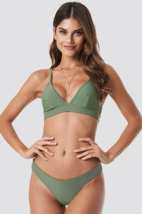 NA-KD Swimwear Basic Bikini Panty - Green