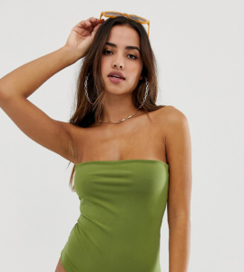 Bandeau Swimsuit - Green