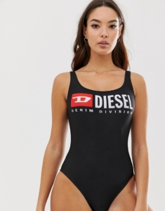 division logo swimsuit - Black