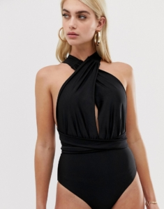 multiway swimsuit in black - Black