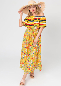Pia Rossini Saffron Maxi Dress