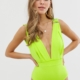 Elastic Bandage Swimsuit in neon green - Green