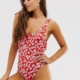 Heatherburn swimsuit in floral - Red