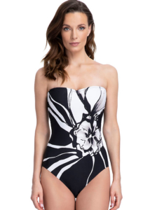 Gottex Midnight Rose Bandeau Swimsuit