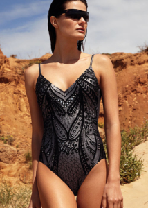 Gottex Couture Norma V Neck Swimsuit